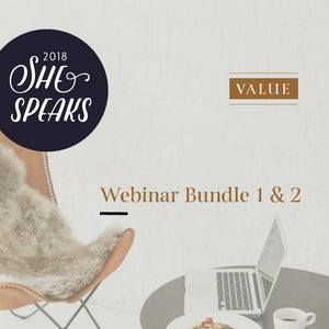 2018 She Speaks Pre-Conference Webinar Bundle