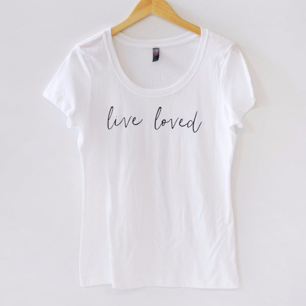Uninvited: Live Loved Scoop-Neck Tee