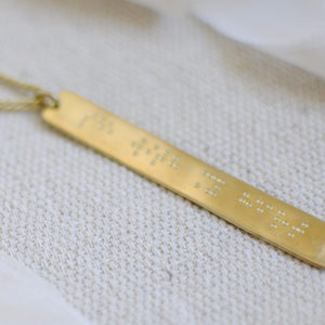 """See With My Heart"" Braille Necklace"