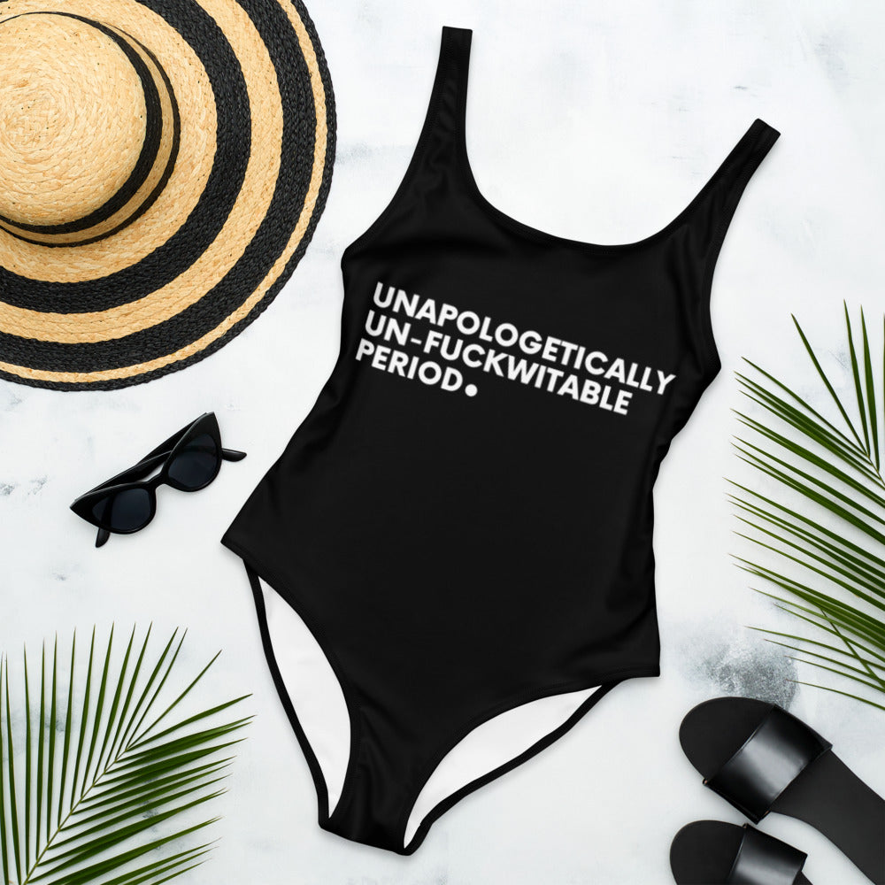 Unapologetically, Un-Fuckwitable, Period. Swimsuit