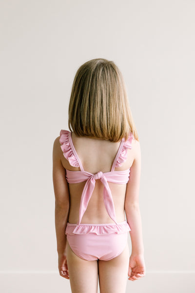 Girl's Ruffle Strap Two Piece