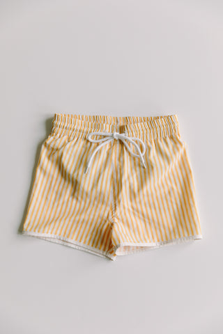 Boy's Yellow Striped Shorts