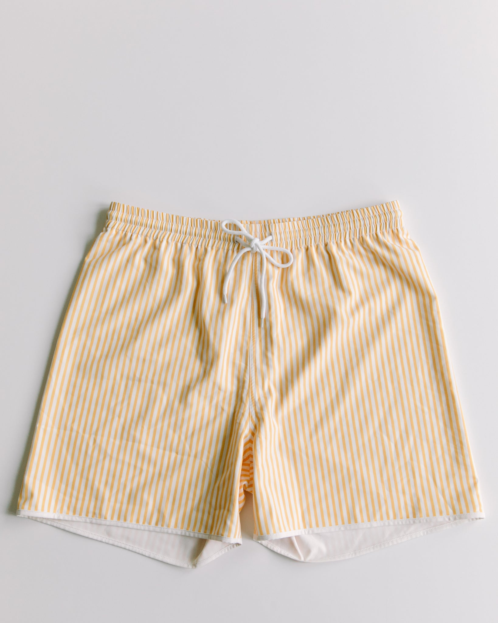Men's Yellow Striped Shorts