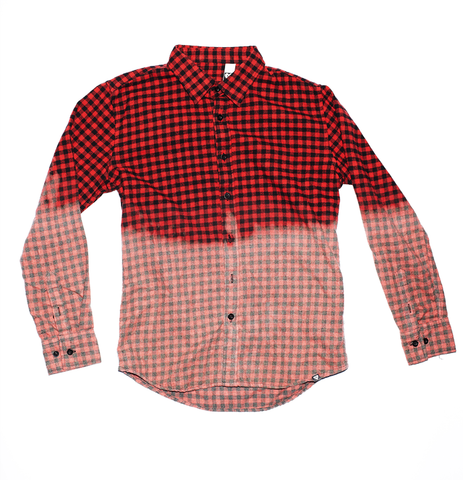 RED OMBRE FLANNEL