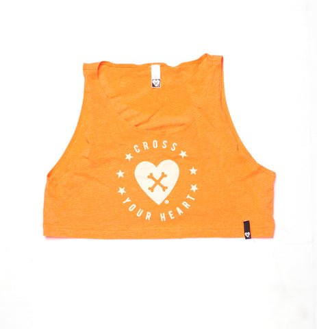 CROSS YOUR HEART ORANGE CROP