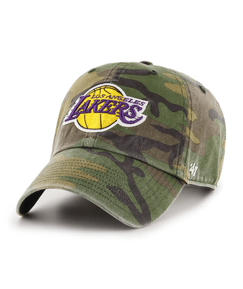 47 BRAND HATS '47 Brand LA Lakers Camo Hat Adjustable