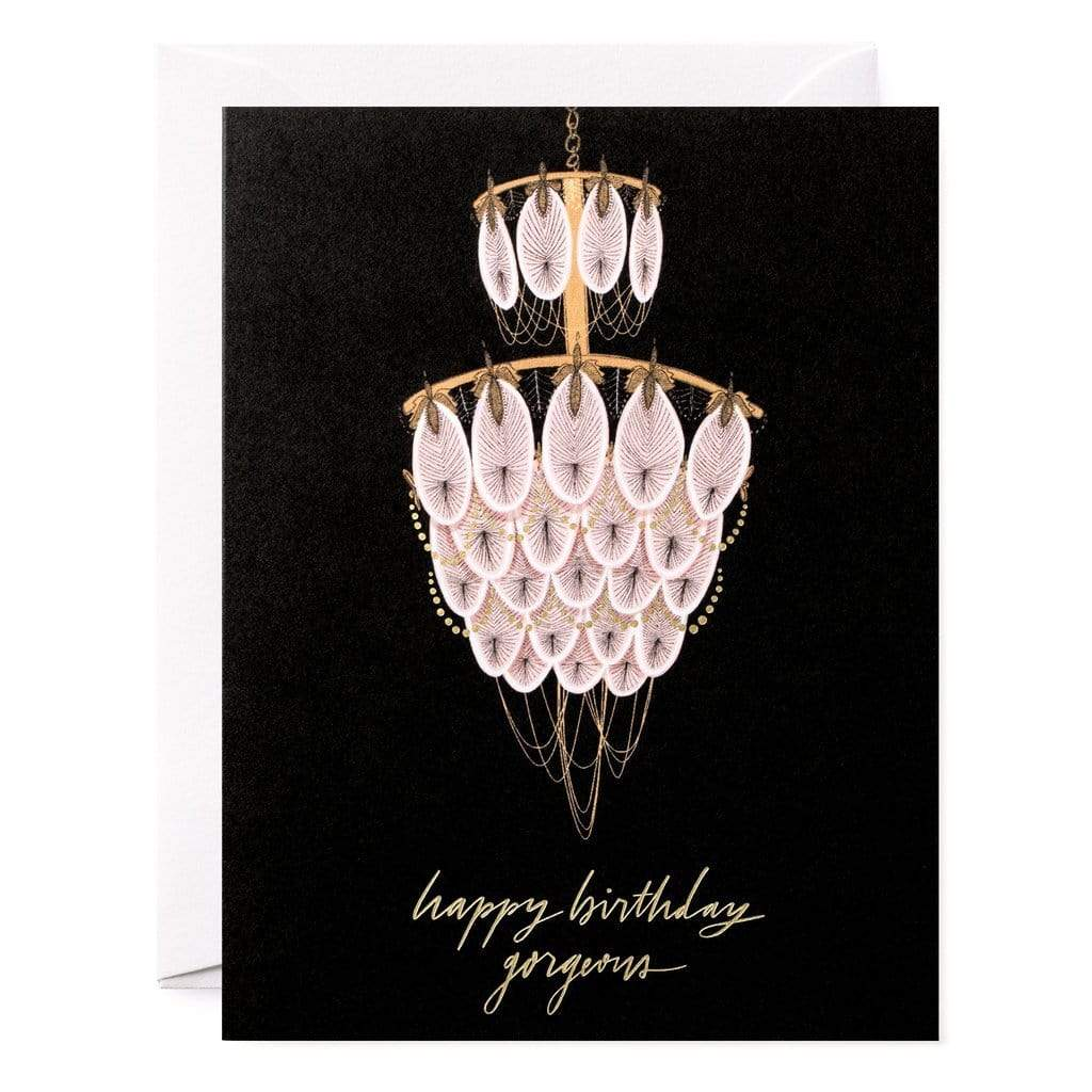 CHANDELIER BIRTHDAY CARD - LOCAL FIXTURE