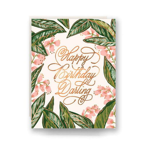 ANTIQUARIA GINGER BLOSSOM BIRTHDAY CARD - LOCAL FIXTURE