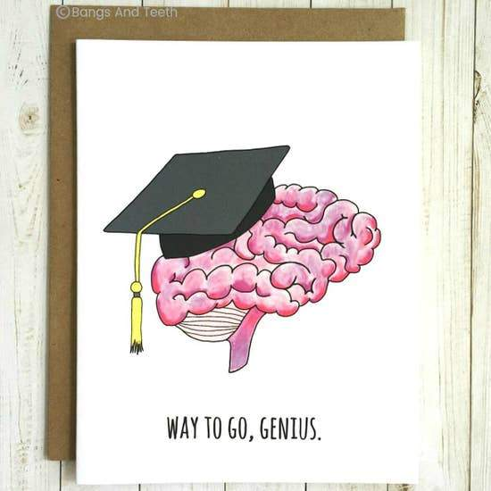 WAY TO GO GENIUS GRADUATION CARD - LOCAL FIXTURE