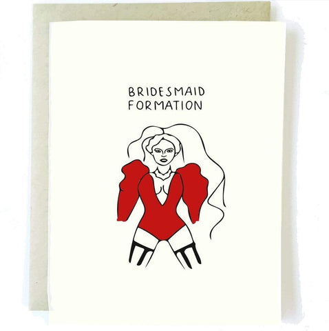BRIDESMAID FORMATION CARD - LOCAL FIXTURE