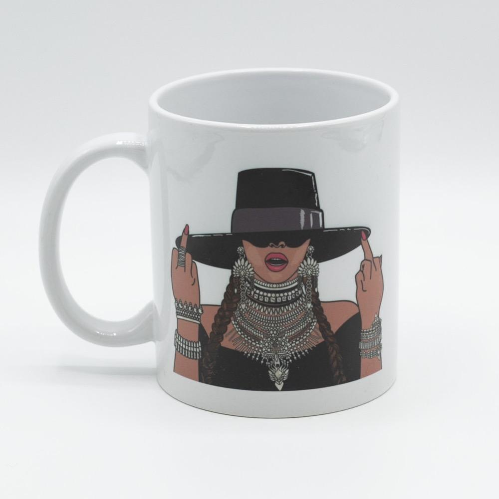 CITIZEN RUTH BEYONCE MIDDLE FINGERS UP MUG - LOCAL FIXTURE