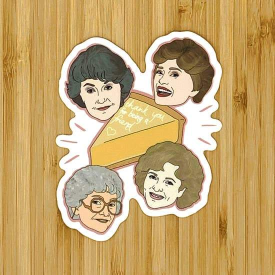 GOLDEN GIRLS STICKER - LOCAL FIXTURE