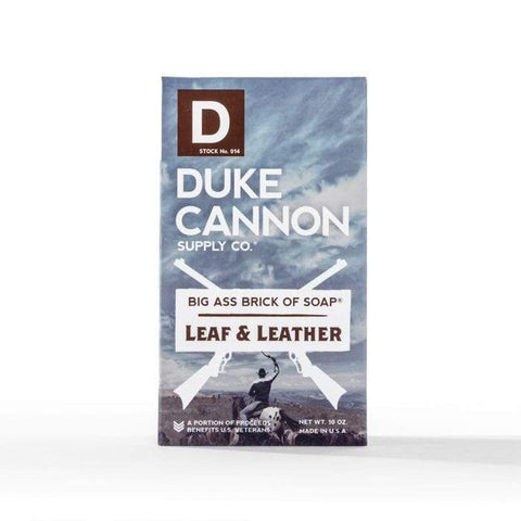 DUKE CANNON BIG ASS BRICK OF SOAP - LEAF AND LEATHER - LOCAL FIXTURE