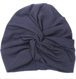 BABY TURBAN WITH KNOT IN SOLID COLORS - LOCAL FIXTURE