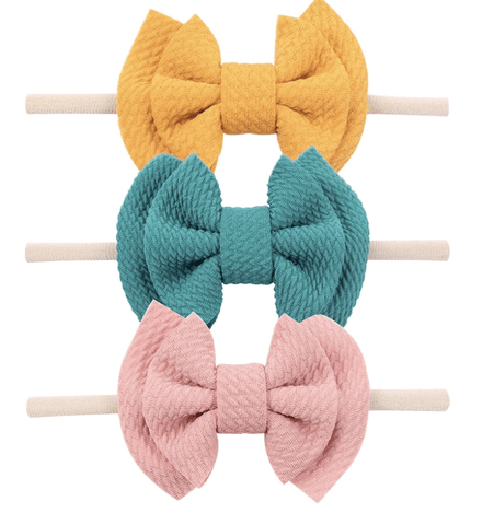 Spring Waffle Bow Headband Set - LOCAL FIXTURE