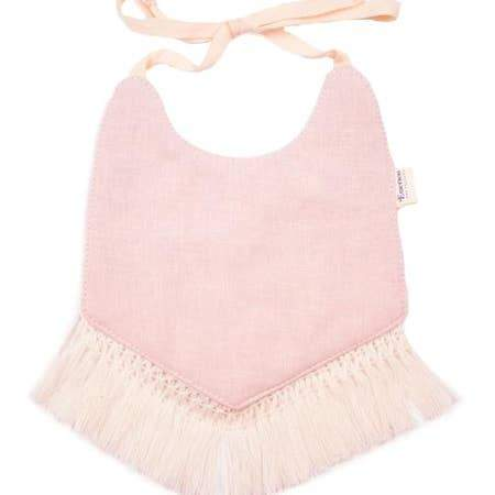 Rose Fringe Boho Baby Bib - LOCAL FIXTURE