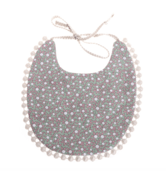 TINY FLORAL BABY BIB - LOCAL FIXTURE