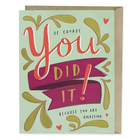 YOU DID IT CARD - LOCAL FIXTURE
