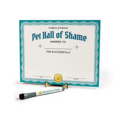 FRED & FRIENDS PET SHAMING DRY ERASE BOARD - LOCAL FIXTURE