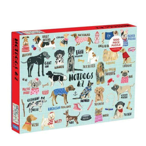 Hot Dogs A-Z 1000 Piece Puzzle - LOCAL FIXTURE