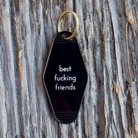 Best Fucking Friends Motel Key Tag Black - LOCAL FIXTURE