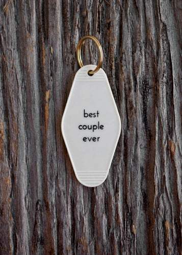 BEST COUPLE EVER WHITE KEY TAG - LOCAL FIXTURE