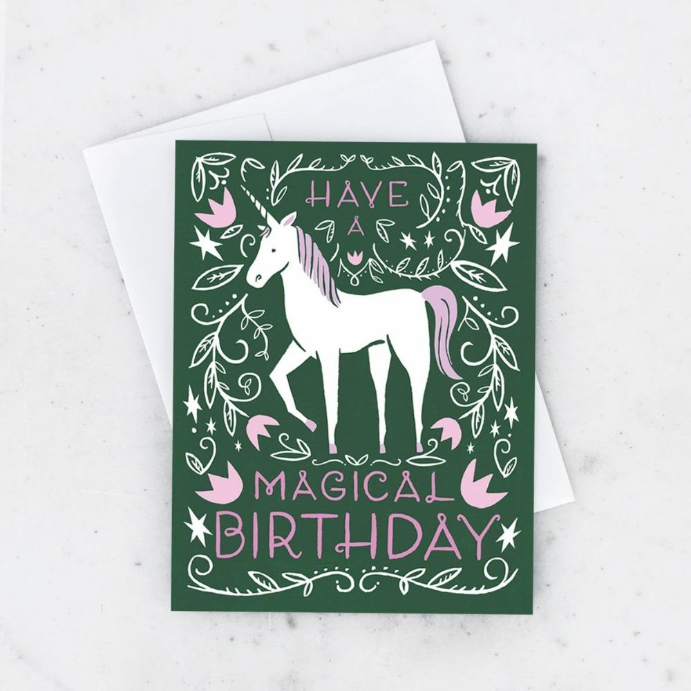 IDLEWILD CO. CARDS Magical Unicorn Card