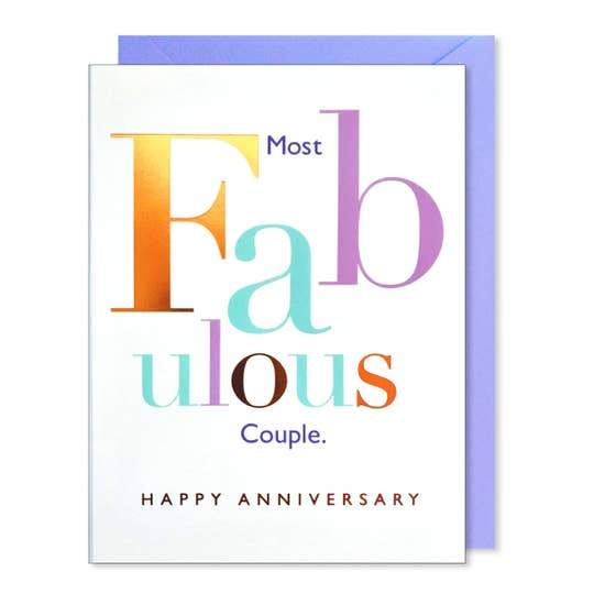 FABULOUS COUPLE ANNIVERSARY CARD - LOCAL FIXTURE