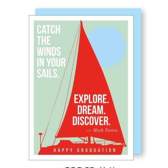 GRADUATION SAILBOAT CARD - LOCAL FIXTURE