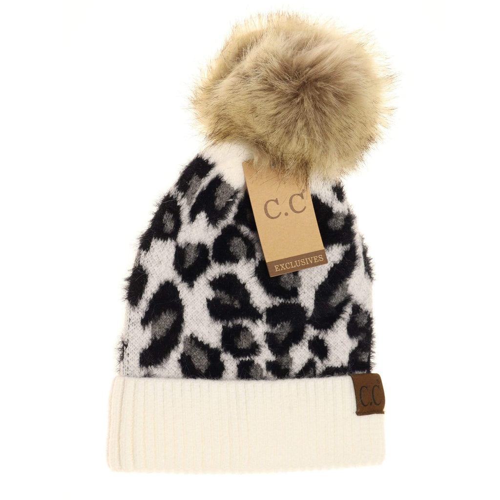 Leopard Pom Beanie - LOCAL FIXTURE