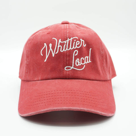 Pigment Washed Twill Whittier Local Script Baseball Dad Hat - LOCAL FIXTURE