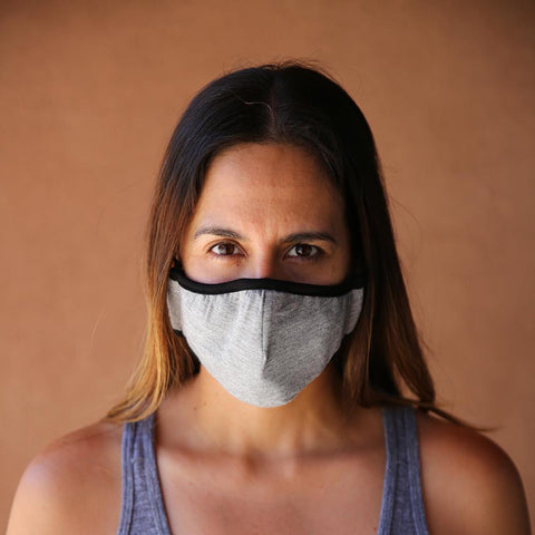 Reusable & Washable 3-ply Cotton Face Mask with built-in filter - GREY - LOCAL FIXTURE