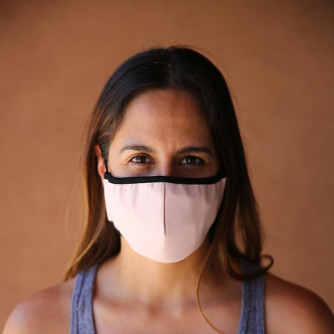 Reusable & Washable 3-ply Cotton Face Mask with built-in filter - LIGHT PINK - LOCAL FIXTURE