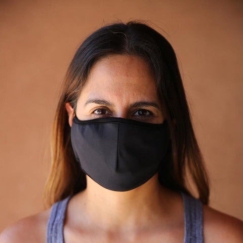 Reusable & Washable 3-ply Face Mask with built-in filter - BLACK - LOCAL FIXTURE