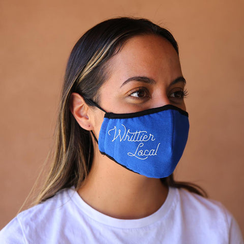Whittier Local Reusable & Washable 3-ply Cotton Face Mask with built-in filter - ROYAL BLUE - LOCAL FIXTURE