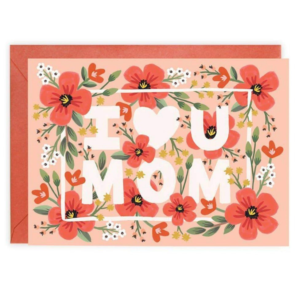 I LOVE YOU MOM CARD - LOCAL FIXTURE