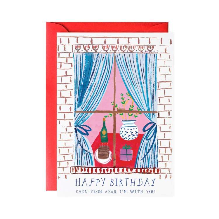 Window Party Birthday Greeting Card - LOCAL FIXTURE