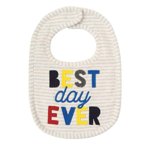 MUD PIE BEST DAY EVER BIB - LOCAL FIXTURE