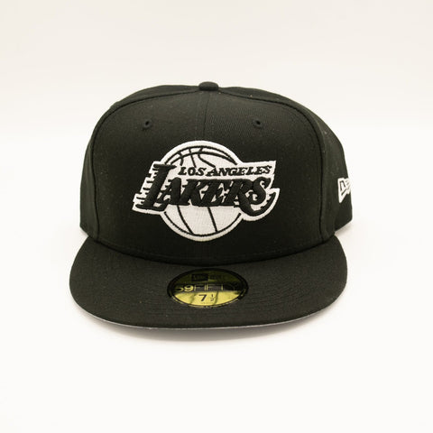 Los Angeles Lakers Black & White 59Fifty Fitted - LOCAL FIXTURE