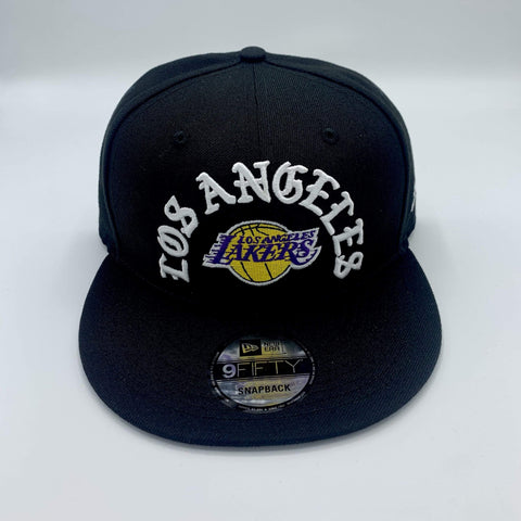 Los Angeles Lakers Team Arch Black 9Fifty Snap Back - LOCAL FIXTURE