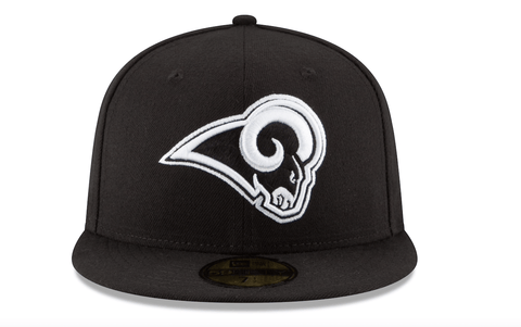 Los Angeles Rams Black & White 59Fifty Fitted - LOCAL FIXTURE
