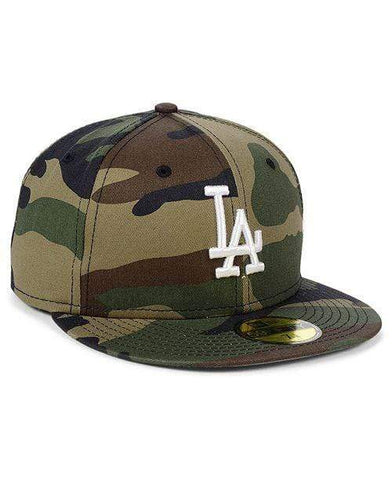 New Era Los Angeles Dodgers New Era Woodland Camo Basic 59FIFTY Fitted Hat - LOCAL FIXTURE
