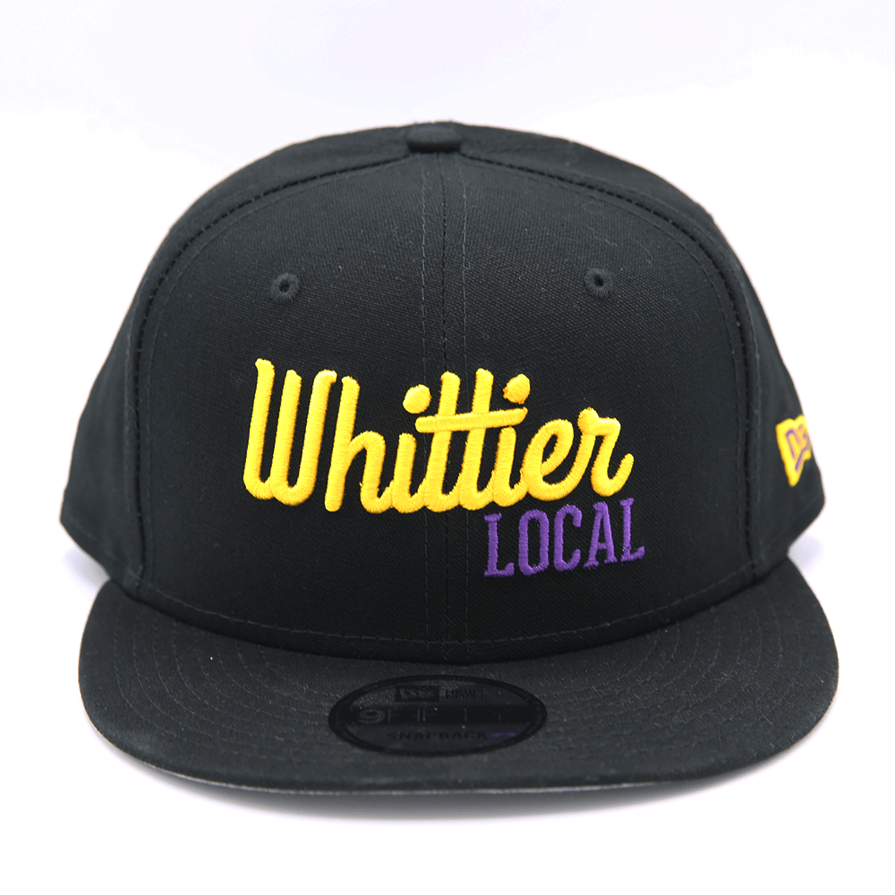 NEW ERA x WHITTIER LOCAL HAT - BLACK W/ PURP & YELLOW - LOCAL FIXTURE