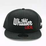 NEW ERA x WHITTIER LOCAL HAT - BLACK W/ RED - LOCAL FIXTURE
