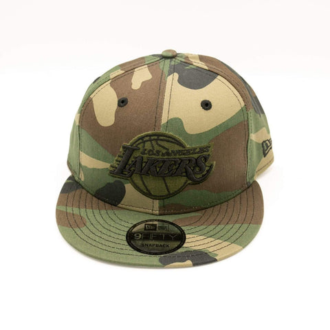 New Era Los Angeles Lakers Woodland Camo 9FIFTY Mens Snapback Hat - LOCAL FIXTURE