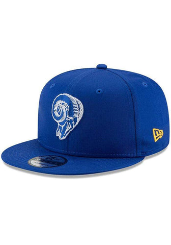 New Era Los Angeles Rams Blue Basic 9FIFTY Mens Snapback Hat - LOCAL FIXTURE