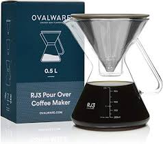 Ovalware RJ3 Pour Over Coffee Maker with Filter - LOCAL FIXTURE