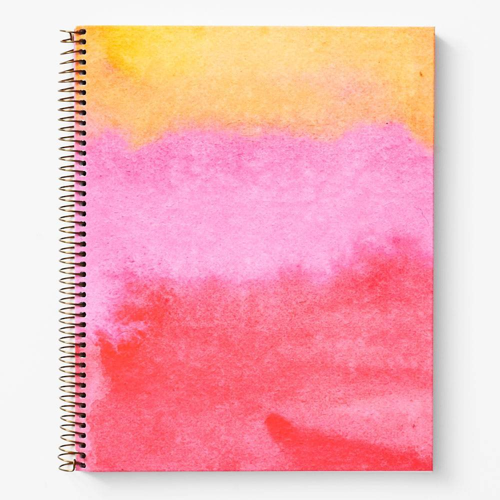 WASTE NOT PAPER PINK WATERCOLOR JOURNAL - LOCAL FIXTURE