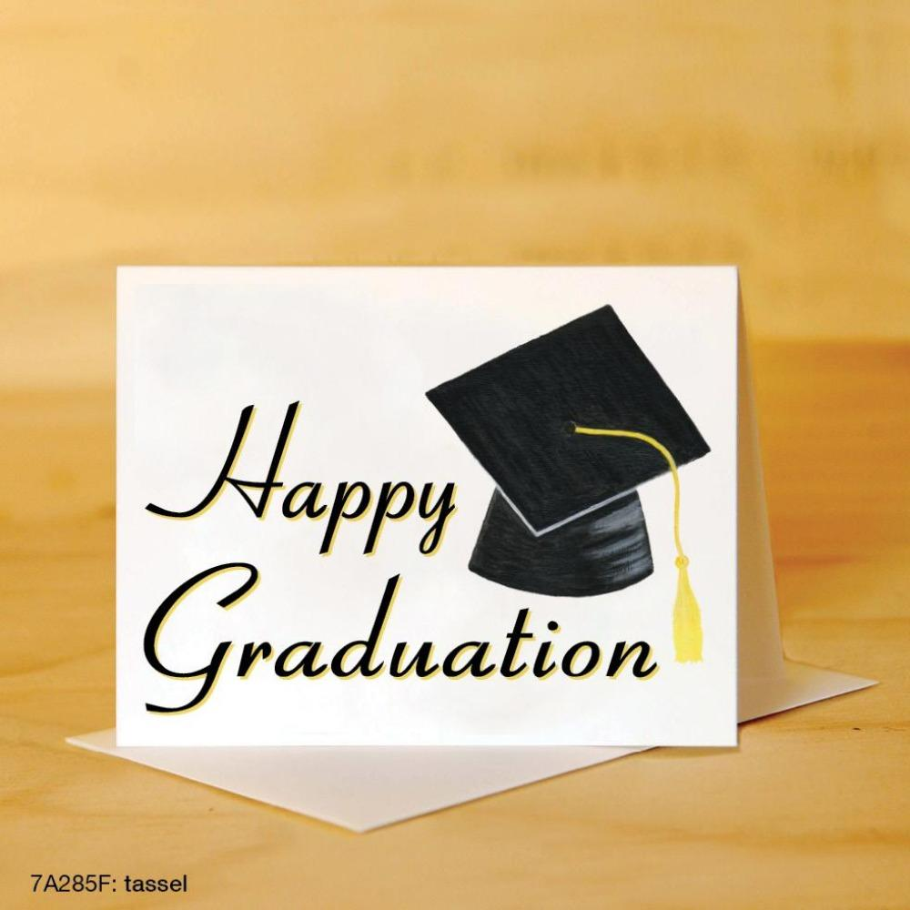PRINTED CANVAS CARD Tassel Happy Graduation (Graduation) Card