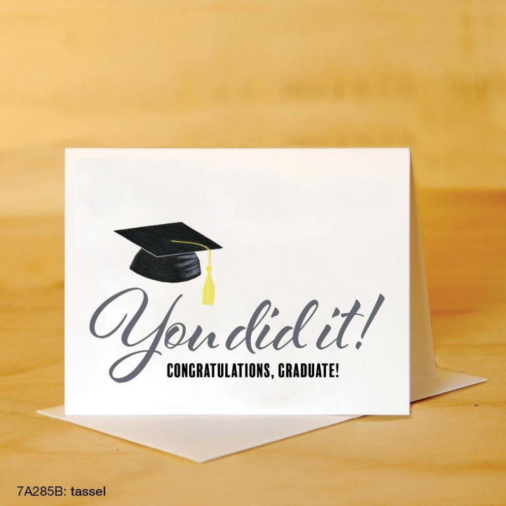 PRINTED CANVAS CARD Tassel You Did It (Graduation) Card